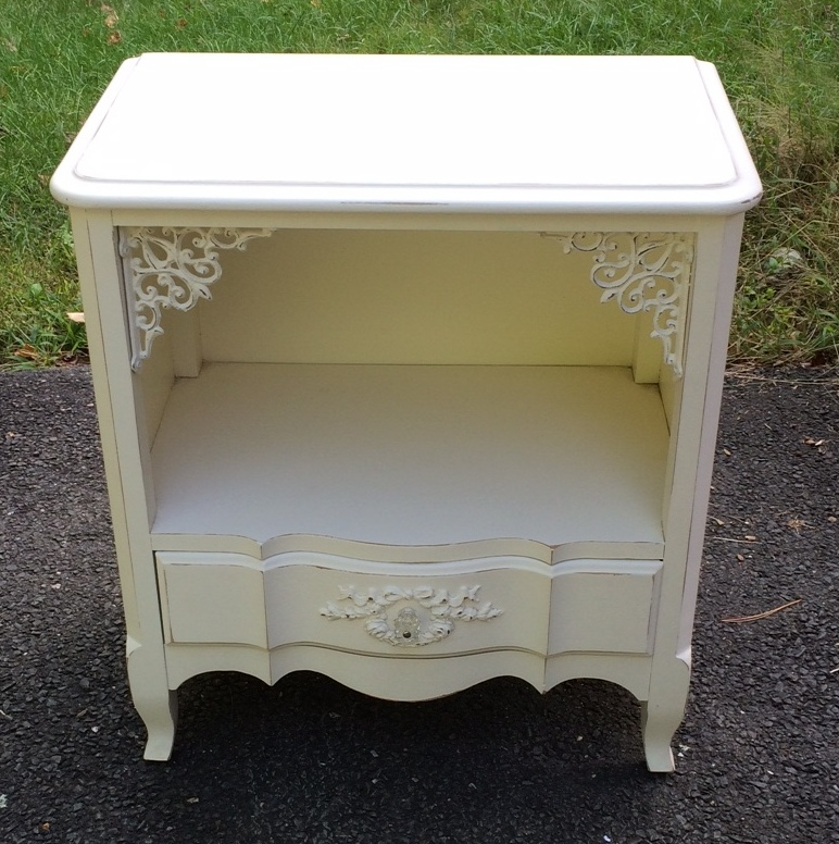 White nightstand for childs bedroom
