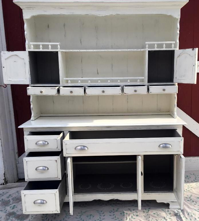 Farmhouse painted Hutch