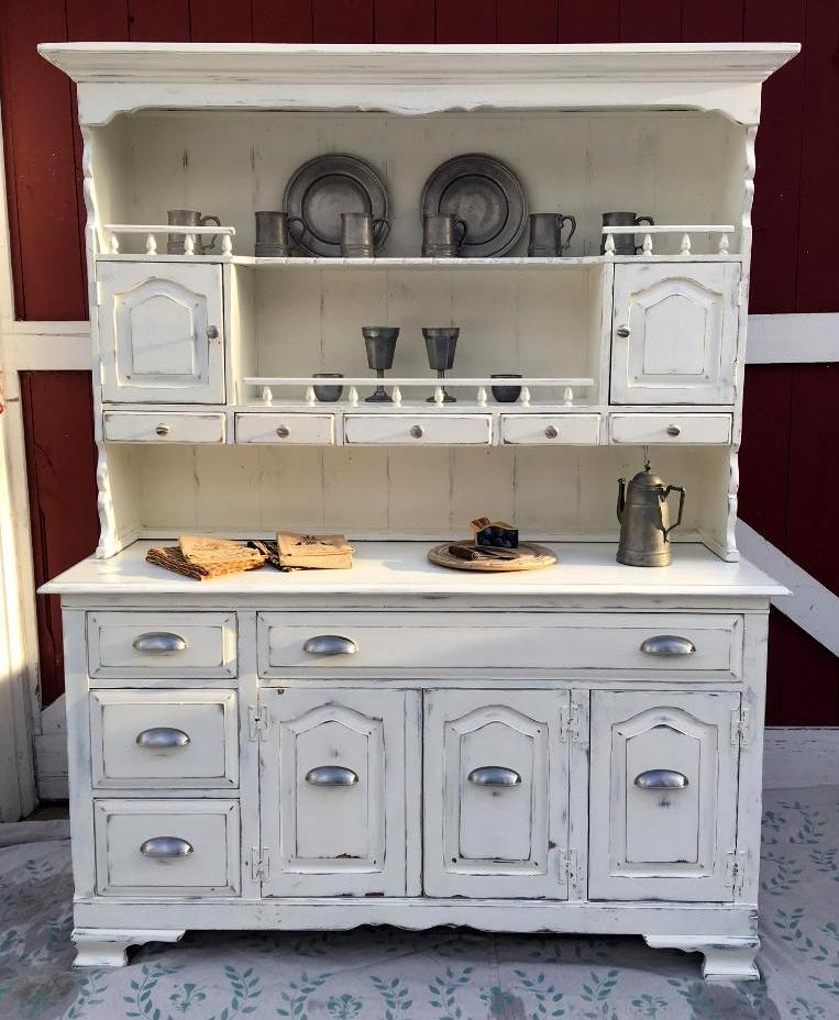 Painted Farmhouse urban modern hutch