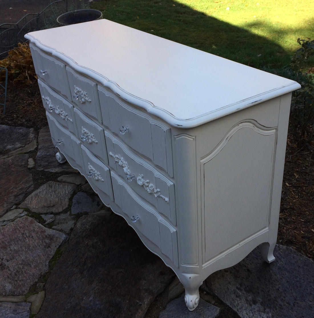 French provincial shabby chic dresser