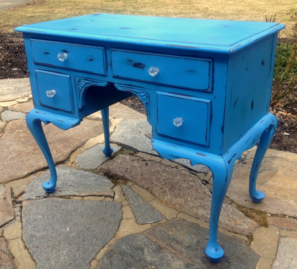 Painted shabby chic desk vanity
